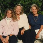 My daughter, Hillary Beard, my mother and me in 1988. My mother was seventy, and looked and felt far younger.