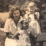My mother, Sarinda Dranow, my sister Elizabeth (left) and me in Maine.