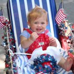 """""""Charley"""" ready for a 4th of July parade"""