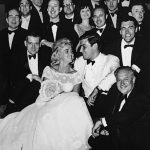"""The Peter Duchin Orchestra at the first of the many debutante parties that earned him the title """"Society Bandleader."""" Photograph courtesy of Sally Johnson Shy, shown center."""